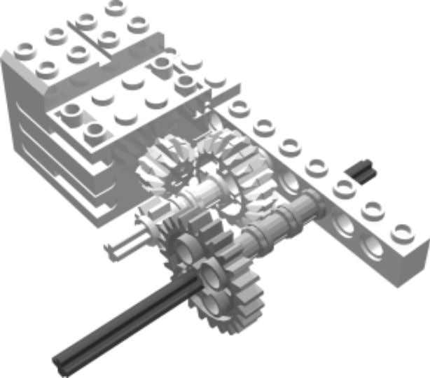 the axle so that the 24t gear meshes with the 8t gear on the first axle.