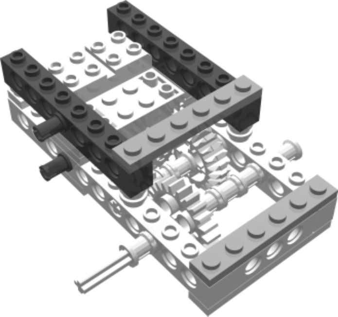 Robot 1 • WideBot Right Drive Step 5 Bricks & Chips… Using 1x1 Round Plates as