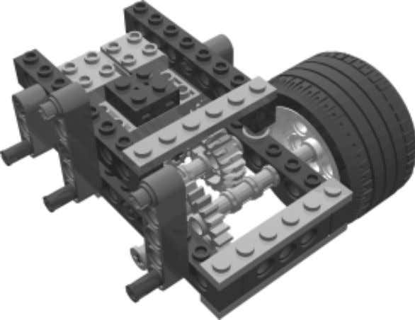 Now you're ready to build the left drive sub-assembly. The left drive sub-assembly is a mirror