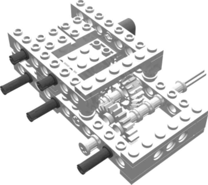 Robot 1 • WideBot Left Drive Step 6 Insert the pins and attach the liftarms so