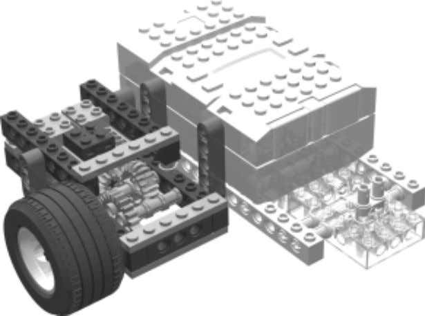 with the chassis sub- assembly. Attach the right drive sub-assembly to the right side of the
