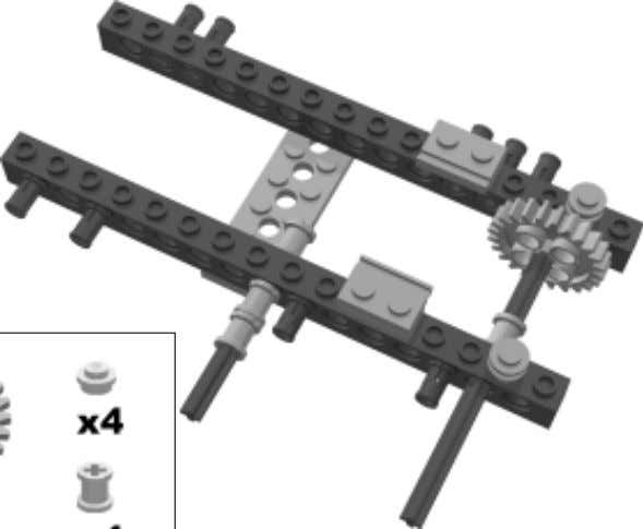 the rotation speed to a one–fifth of the motor's speed. On the two 1x16 TECHNIC beams,