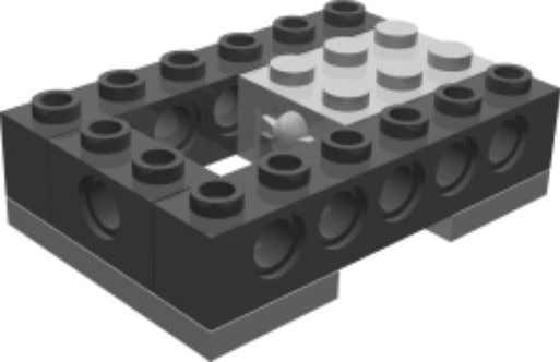 Robot 4 • HunterBot Bumper Step 0 Attach the TECHNIC bricks and touch sensor to the