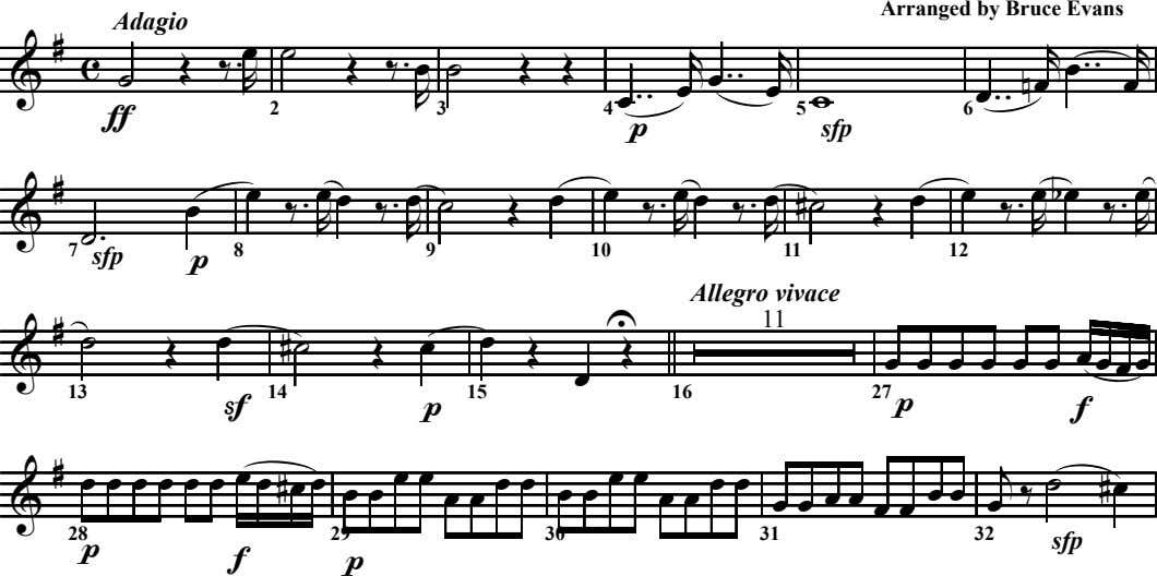 Arranged by Bruce Evans Adagio & œ ˙ r r # c Œ ‰ .