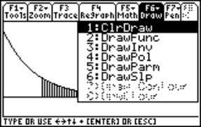 2 ˆ Draw , 1:ClrDraw to remove the shading (screen 15). (13) (14) (15) © 2001