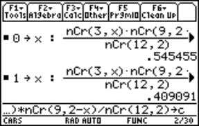 convert to decimal form (first computation in screen 1). (1) Note: From the Home screen with