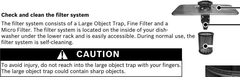Check and clean the filter system The filter system consists of a Large Object Trap,