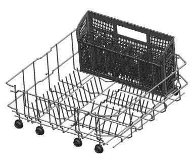 the side of the lower rack. Long Basket Placement Option Loading pattern for Duo-Flex & Long