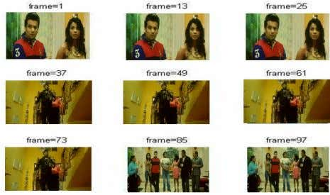 video frames Fig 12 - Recovered watermark image Fig 13 - Recovered original video frames from