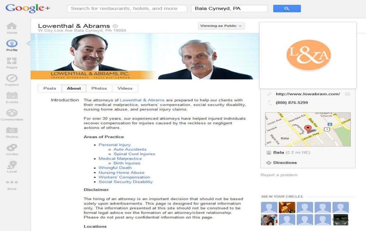 Business Google+ Profile