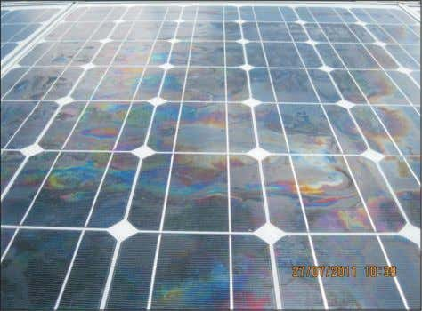 24 Figure 20: Visual color change of the photovoltaic modules