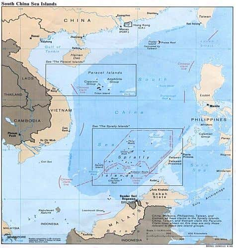 Geo-Strategic Overview Three physical features •   Paracel Islands •   Macclesfield Bank •   Spratly