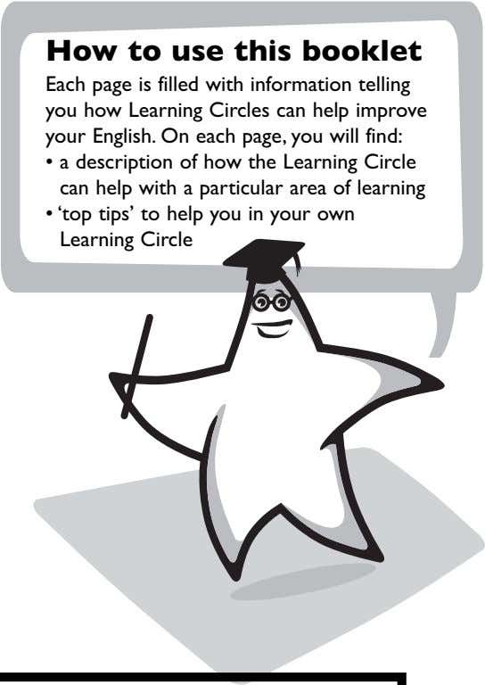 • a description of how the Learning Circle can help with a particular area of