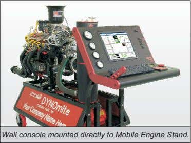 Wall console mounted directly to Mobile Engine Stand.