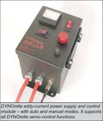 DYNOmite eddy-current power supply and control module – with auto and manual modes. It supports