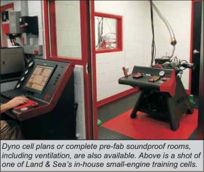 Dyno cell plans or complete pre-fab soundproof rooms, including ventilation, are also available. Above is