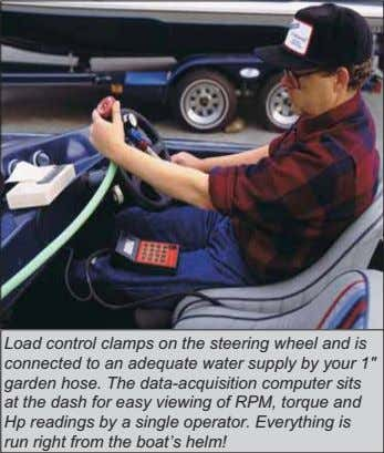 Load control clamps on the steering wheel and is connected to an adequate water supply