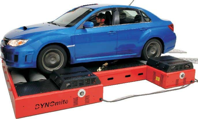 and leasing options available www.land-and-sea.com Land & Sea's DYNOmite Chassis Dynamometer Systems