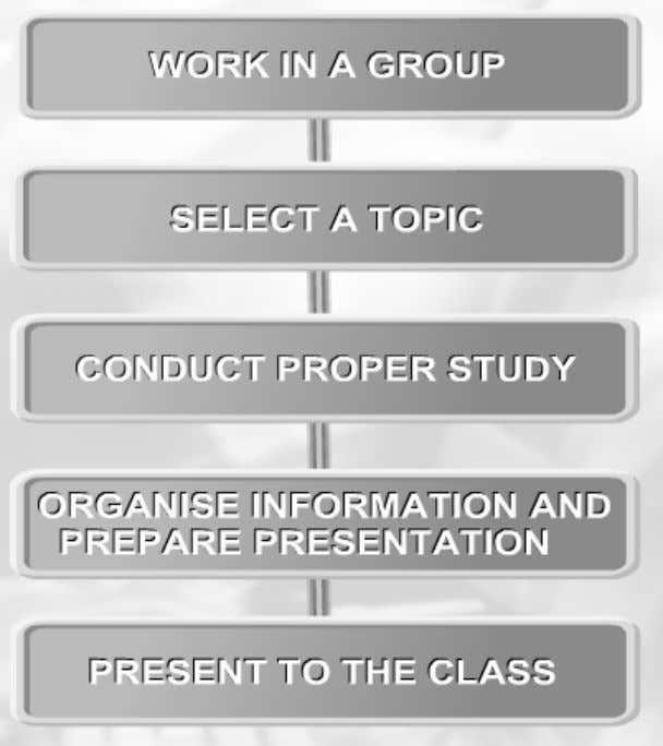 In order to do the research, you need to follow this 5 steps. STUDY TOPICS Form