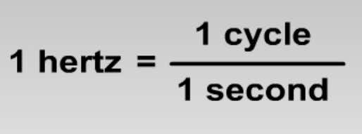 unit is measured in hertz. A hertz is one cycle per second. MEGAHERTZ (MHz) Mega is