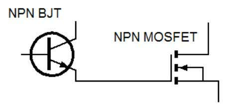 pair circuit. 4. Darlington pair circuit, based on a BJT transistor with MOSFET transistor, as shown