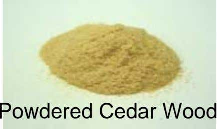 Powdered Cedar Wood