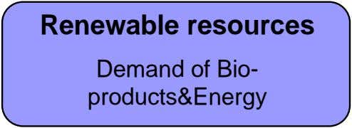 Renewable resources Demand of Bio- products&Energy