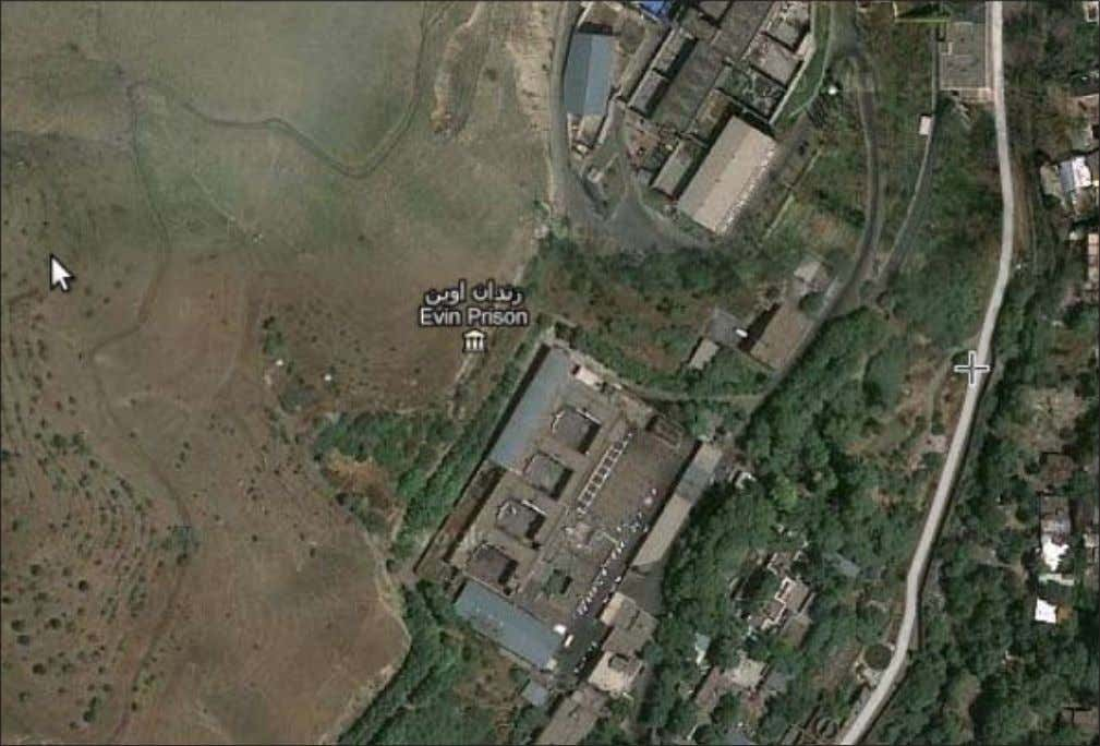 security-intelligence complex of Iran. By Houshang Asadi A satellite view of Evin Prison in Tehran: Google