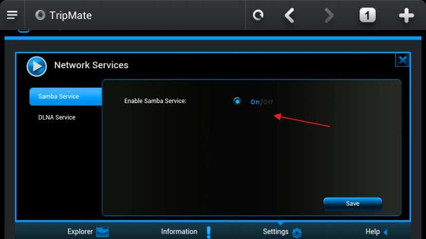 3.4.2 DLNA Service TripMate Nano also supports DLNA service: How to use DLNA: Example: Windows