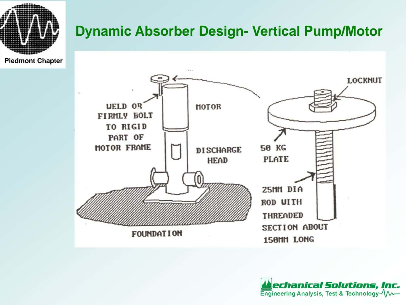Dynamic Absorber Design- Vertical Pump/Motor Piedmont Chapter