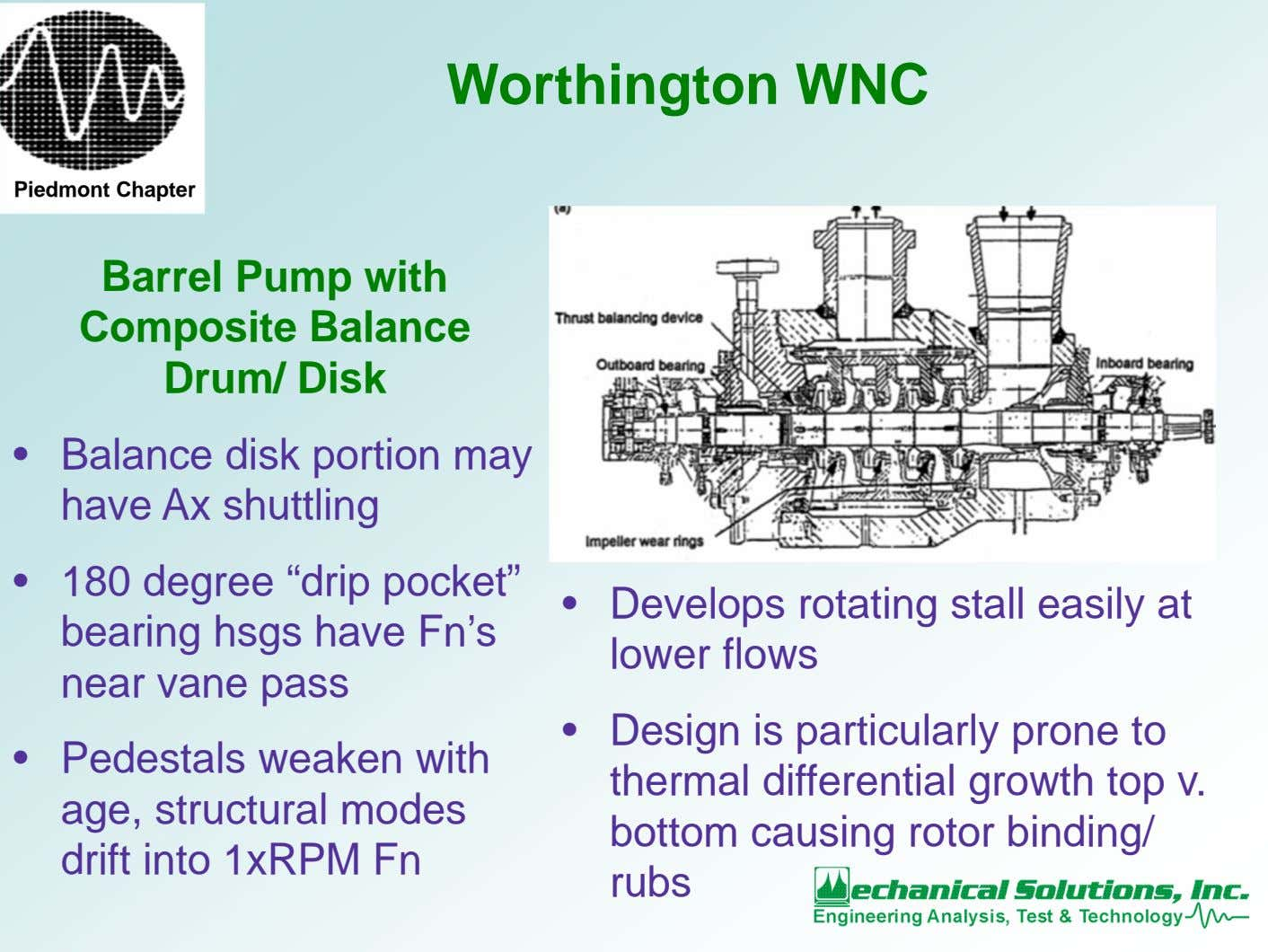 Worthington WNC Piedmont Chapter Barrel Pump with Composite Balance Drum/ Disk • Balance disk portion