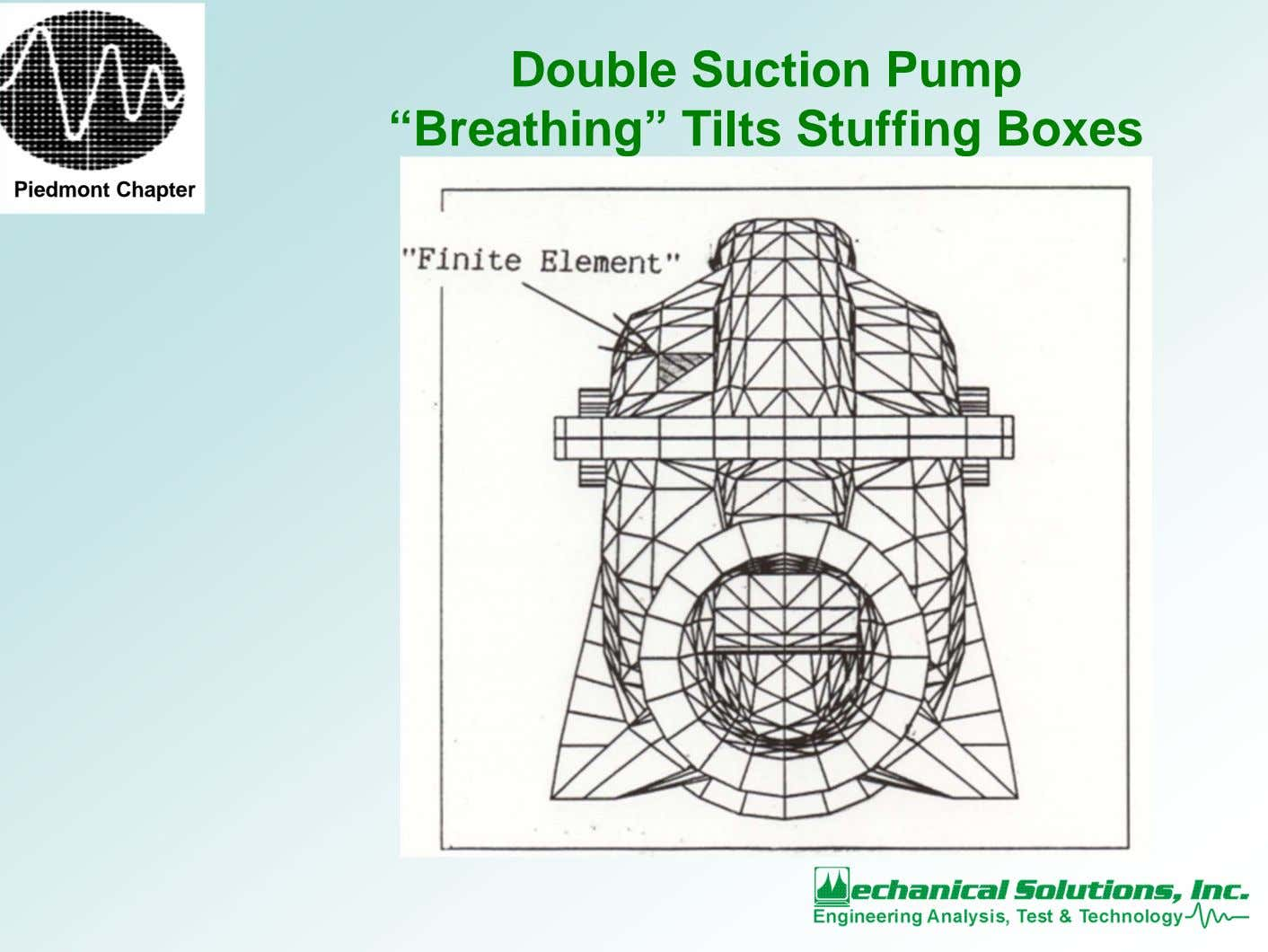 "Double Suction Pump ""Breathing"" Tilts Stuffing Boxes Piedmont Chapter"