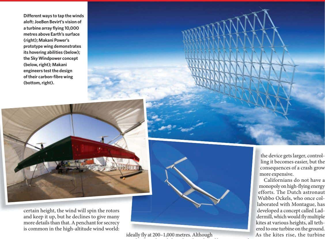 Different ways to tap the winds aloft: JoeBen Bevirt's vision of a turbine array flying