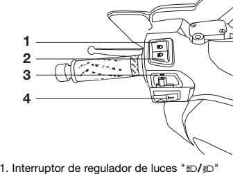 "1 2 3 4 1. Interruptor de regulador de luces ""j/k"""