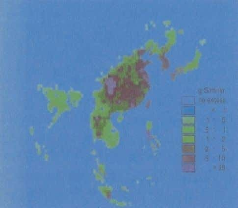 of NH 3 in the Figure 6.2 Excess Projected by the RAIN-Asia Model Levels of Acid