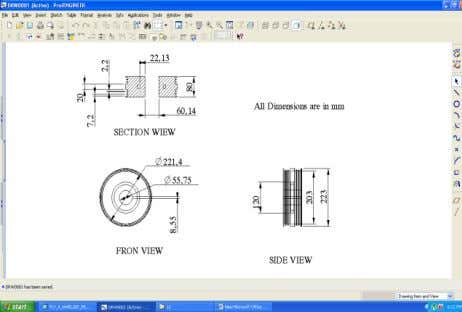 and (iv) Sheet Metal Model Of Flywheel FINAL_MODEL 2D Drawing DOI: 10.9790/1684-12320115 www.iosrjournals.org 5 | Page