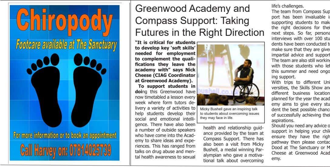 "Greenwood Academy and Compass Support: Taking Futures in the Right Direction ""It is critical for"
