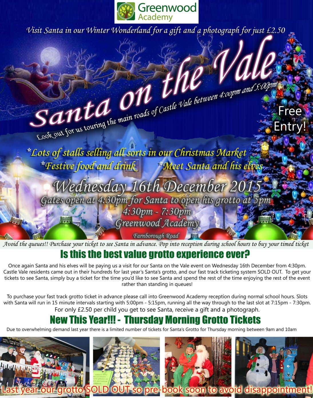 Free Entry! Is this the best value grotto experience ever? Once again Santa and his