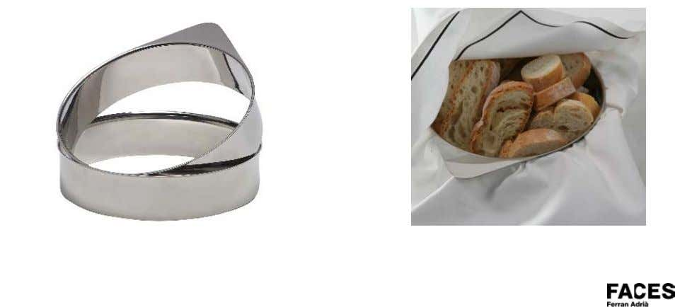 steel band to which any napkin can be adapted. Aros/Rings ∅ 180mm. Altura/high 45mm. Servilleta/Napkin 400