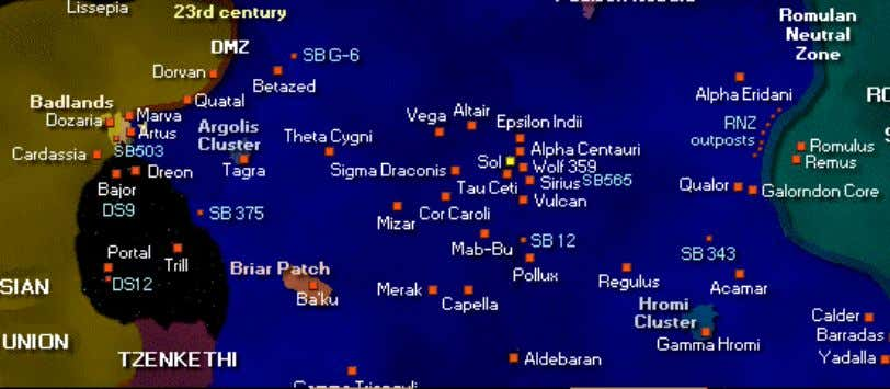 1.0 – 40 Eridani Federation Area Map The Vulcan system is 16.45 light years from Eart