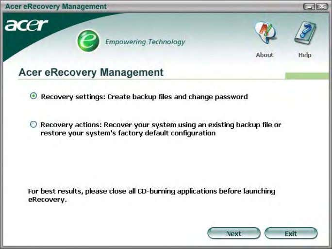 NOTE: If your computer did not come with a Recovery CD or System CD, please