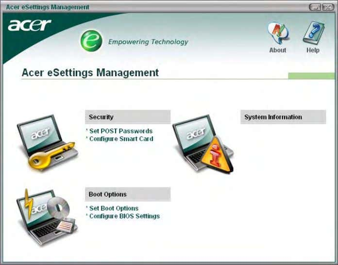 Acer eNet Management Acer eNet Management helps you to quickly and easily connect to both