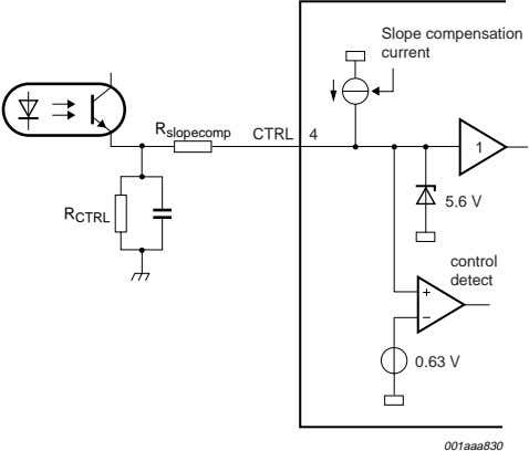 Slope compensation current R slopecomp CTRL 4 1 5.6 V R CTRL control detect 0.63