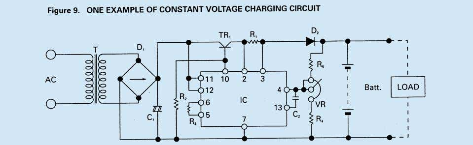 charging current is limited by the series resistance R1. Note The recommended float charge voltage for