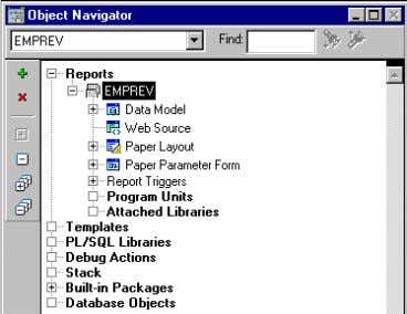 2–2 Object Navigator Disp laying an Existing HTML Page 2.2 Using the Data Wizard to Add
