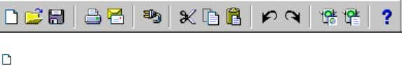 directly beneath the menu bar: Figure B–1 Main Toolbar New button. Displays the New Report dialog