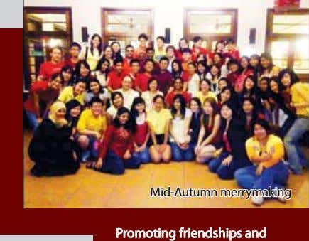 Mid-Autumn merrymaking Promoting friendships and