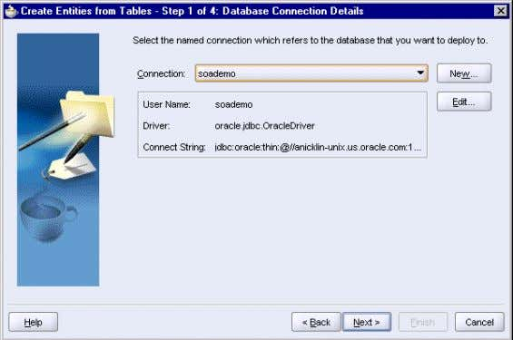 From Tables Wizard: Step 1, Database Connection Details 4 . In Step 2, Select Tables, check