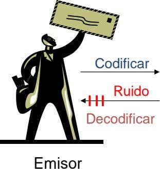 Codificar Ruido Decodificar Emisor