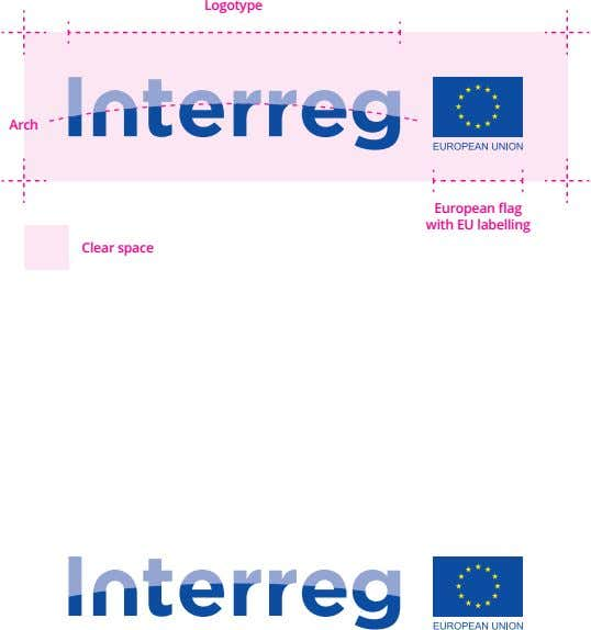 Logotype Arch European flag with EU labelling Clear space